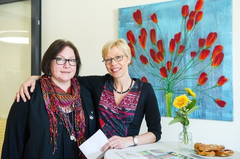Martina Justus und Frauke Backes, Oberärztin der Palliativstation